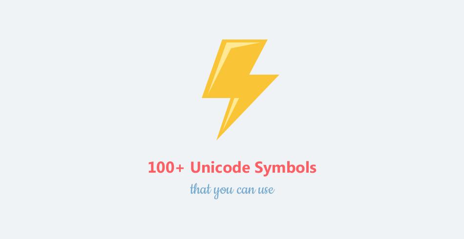 100-plus-unicode-symbols