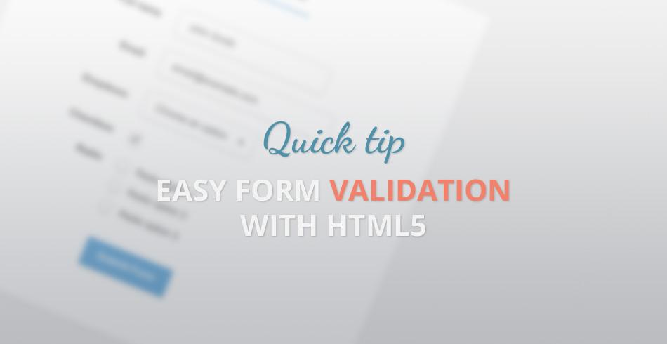 easy-form-validation-html5
