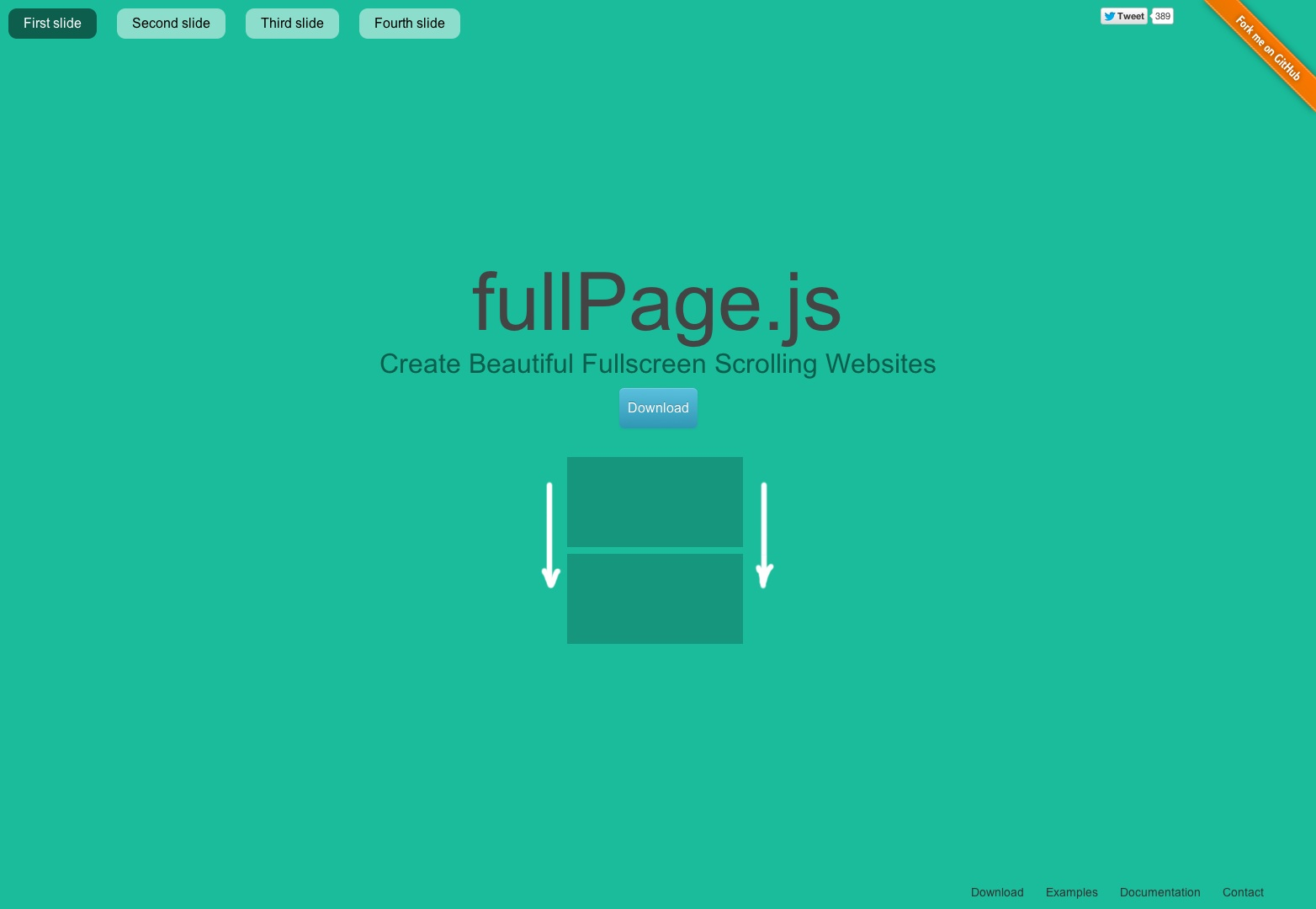 fullPage plugin by Alvaro Trigo. Create fullscreen pages fast and simple. One page scroll like iPhone website.