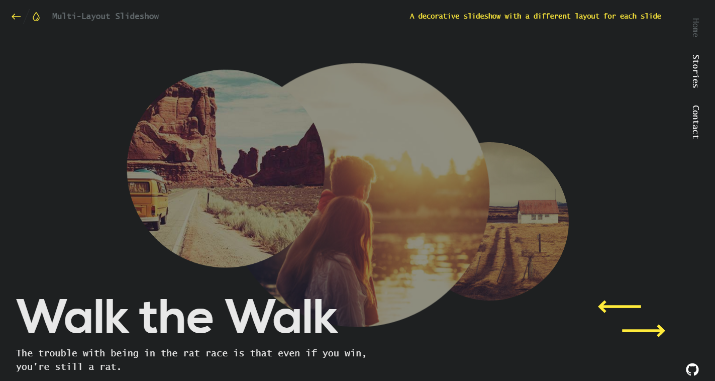 Multi Layout Slideshow   Demo 1   Codrops