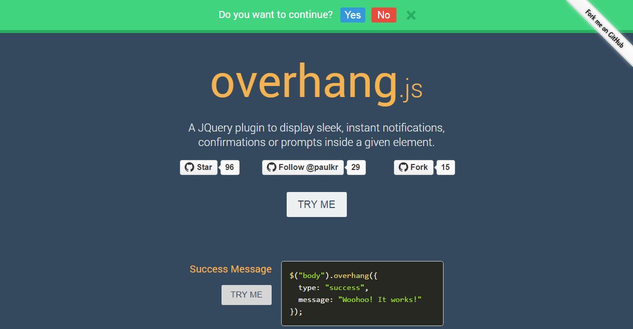 overHang.js Demo