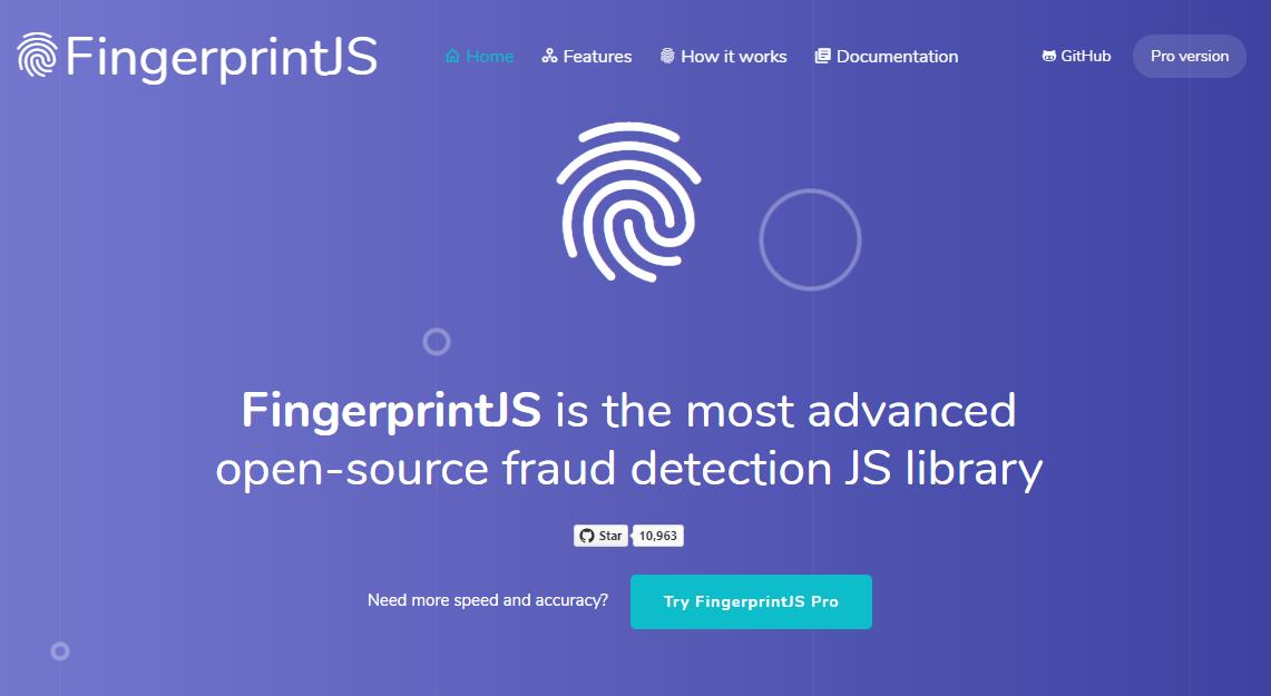 FingerprintJS – Modern & Flexible Browser Fingerprinting Library